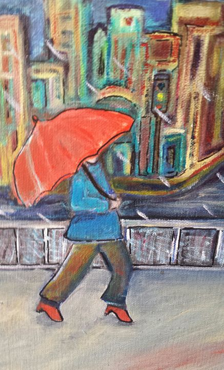 Rainy day - Lori's paintings