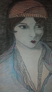 Art deco woman