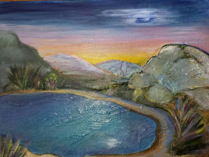 The silent pond - Lori's paintings