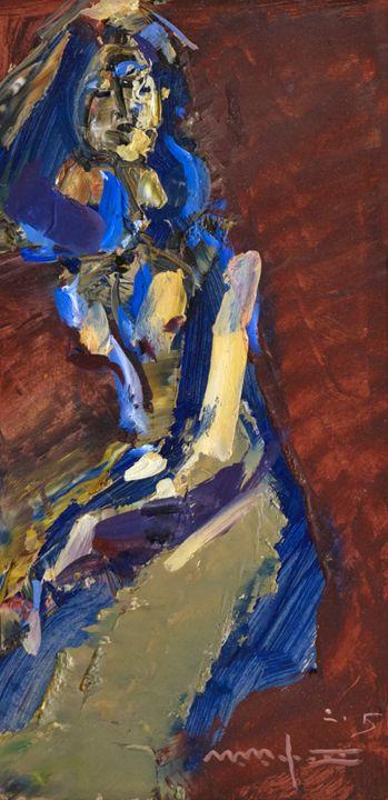 Dressed in Blue on Red - Nikolay Malafeev