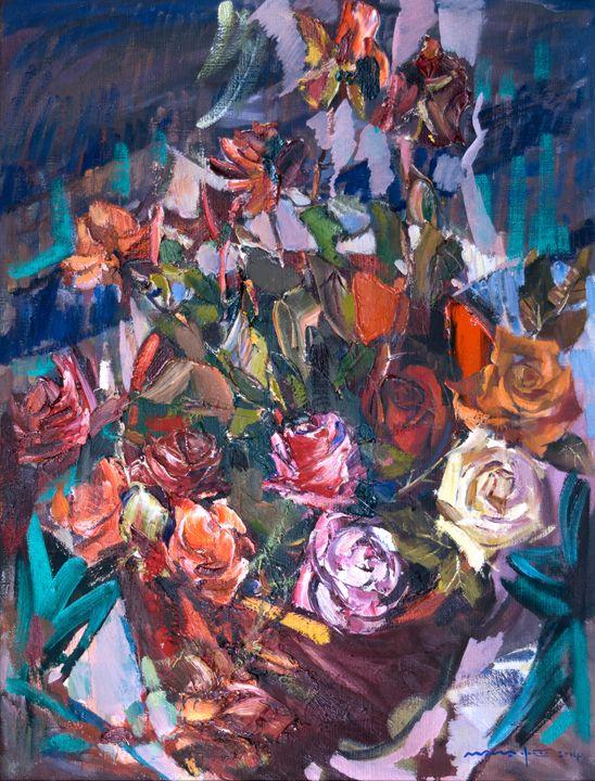 Roses In A Red Bucket - Nikolay Malafeev