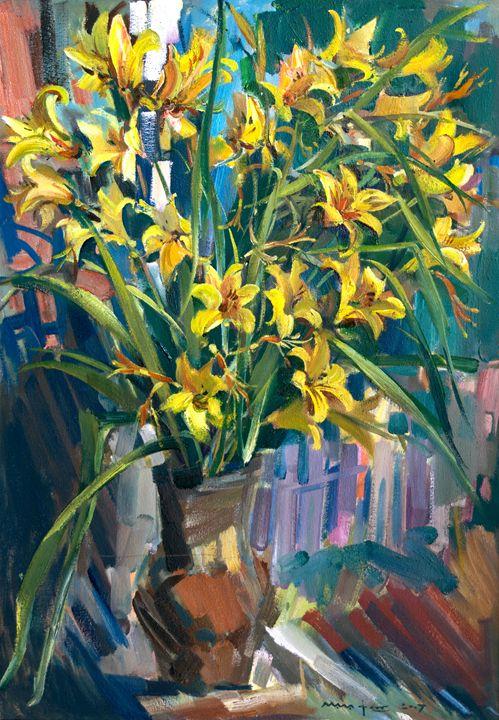 Bouquet on the Window - Nikolay Malafeev