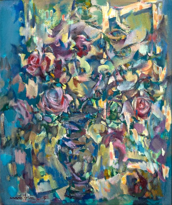 Roses on window - Nikolay Malafeev