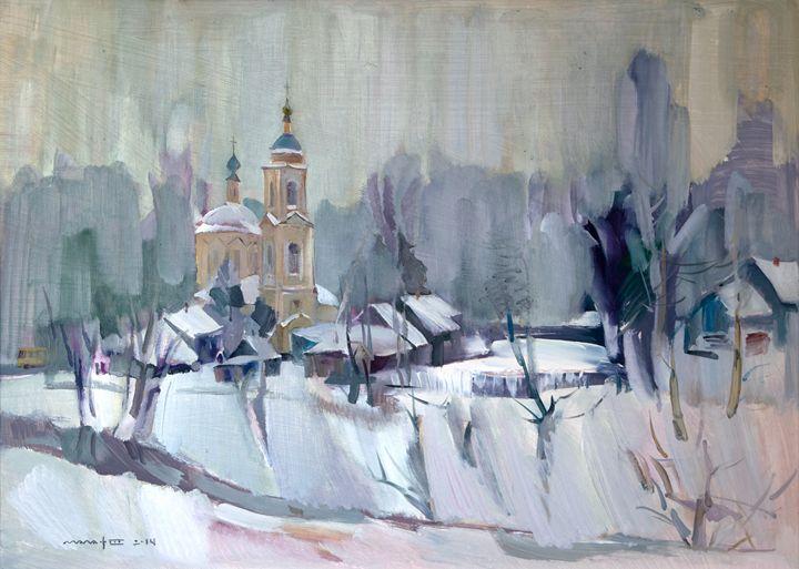 Winter in the Village - Nikolay Malafeev