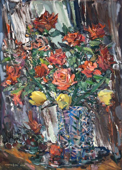 Roses and Tulips - Nikolay Malafeev
