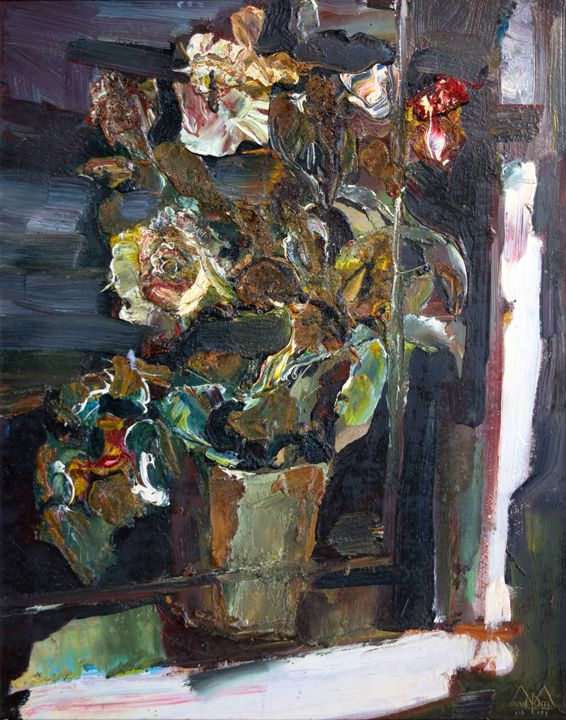 Flowers Near Window - Nikolay Malafeev