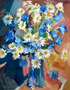 Cornflowers and Daisies - Nikolay Malafeev