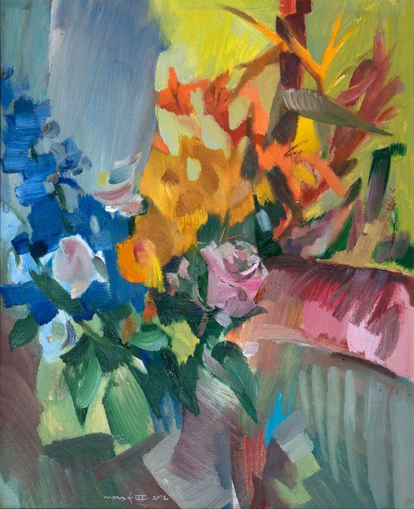 Flowers Near the Window - Nikolay Malafeev