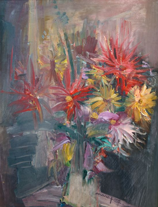 Asters Near the Window - Nikolay Malafeev
