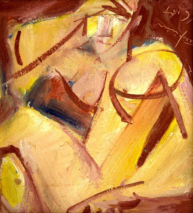 Nude in Yellow - Nikolay Malafeev