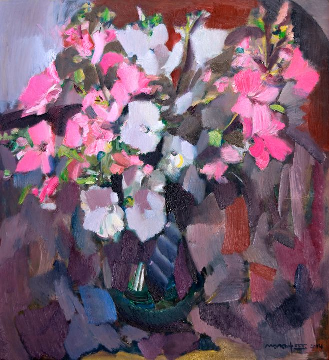 Lavatera Near The Window - Nikolay Malafeev