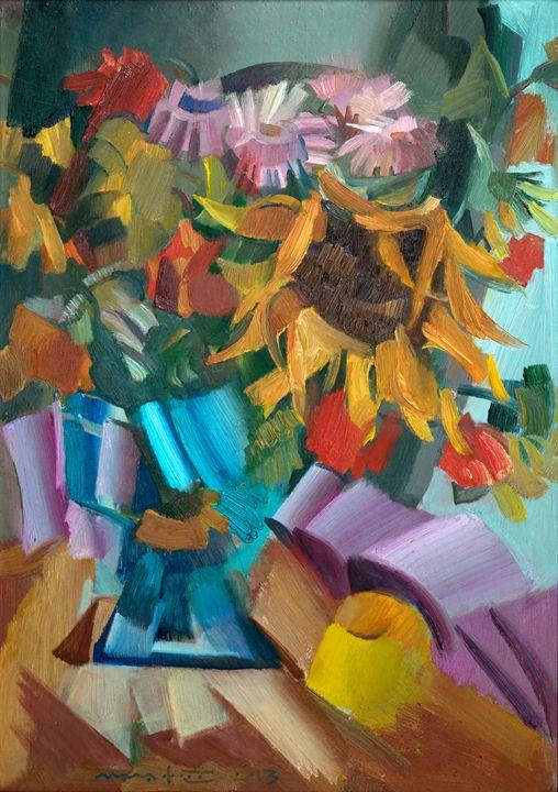 Flowers And Apple - Nikolay Malafeev
