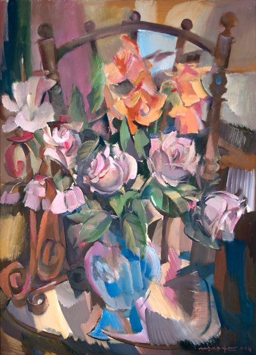 Roses On A Chair - Nikolay Malafeev