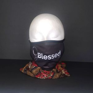Jima's Face Mask: Blessed (black)