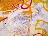 Mixed media painting + drawing