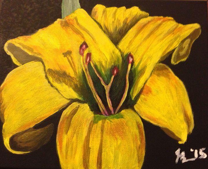 Yellow Lily (c) Jessica Bench 2015 - Jessica Bench Art