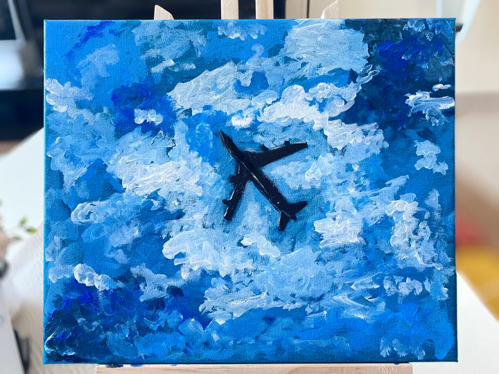 Plane above - Colours of Lina