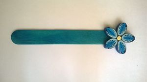 Blue Quilling Paper Bookmark