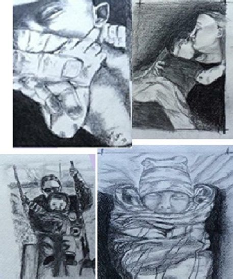 Family, Newbown Drawing or Painting - Bella's Pictures and Baubles - Photo into Art