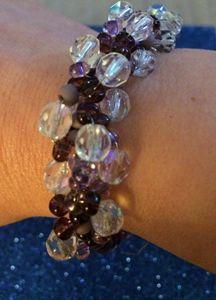 Czech Seed Bead Spiral Bracelet