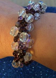 Czech Seed Bead Spiral Bracelet - Bella's Pictures and Baubles - Photo into Art