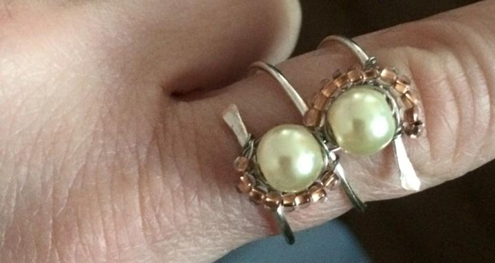 Coil and Pearl Ring - Bella's Pictures and Baubles - Photo into Art