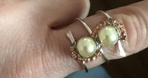 Coil and Pearl Ring
