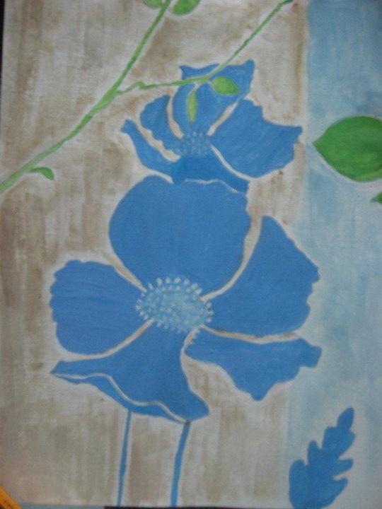 Blue Floral II - Wateryblue