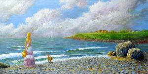 Girl on Balbriggan beach
