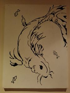 Koi in ink