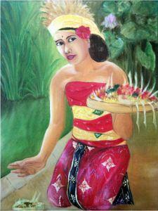 60x80 cm Acrylic Painting Indonesia