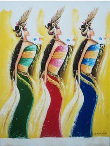 60x80 cm Acrylic Ethnic Dancer