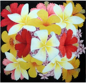 26x26 inch Acrylic Hibiscus Floral