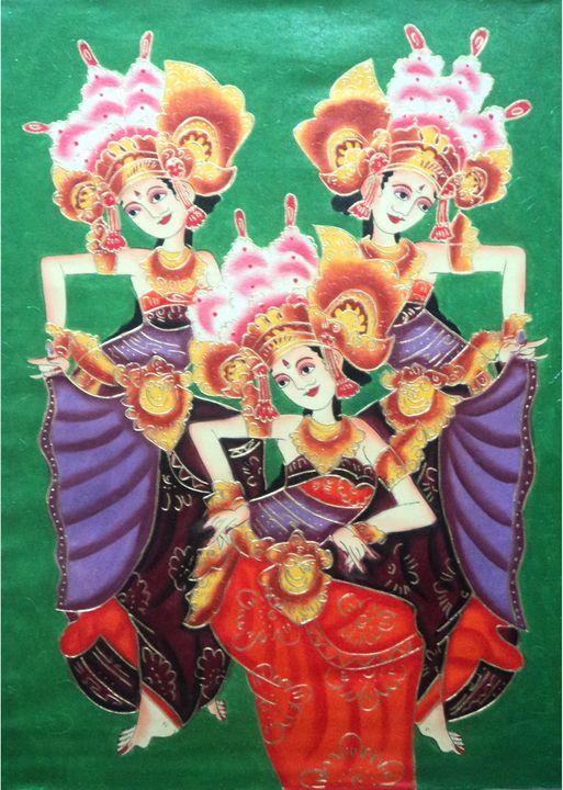 24x32 inch Indonesian Dancers - sutha.art