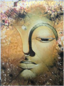 24x31 inch Acrylic Buddha's Head