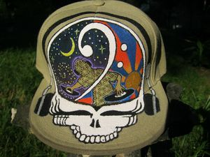 Hand Painted Bass Your Face Hat