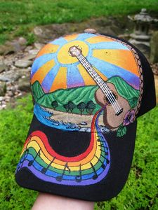 Handpainted Ukulele Hat