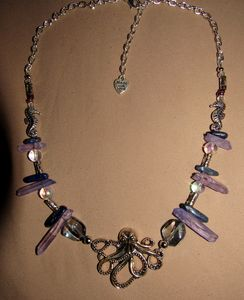 Purple Waters Octopus Necklace