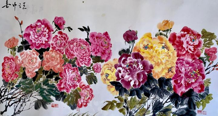 springtime bloom - Chinese Watercolor Art