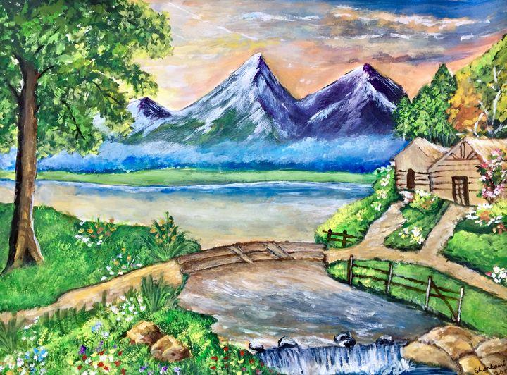 Foggy Mountains - Sharbani's art