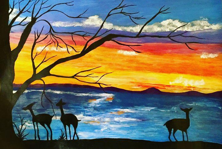 Sunset - Sharbani's art