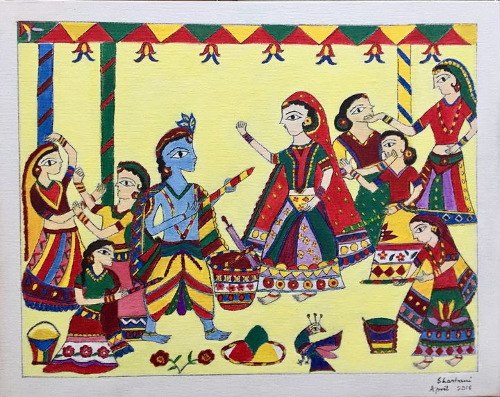 Madhubani Painting - Sharbani's art