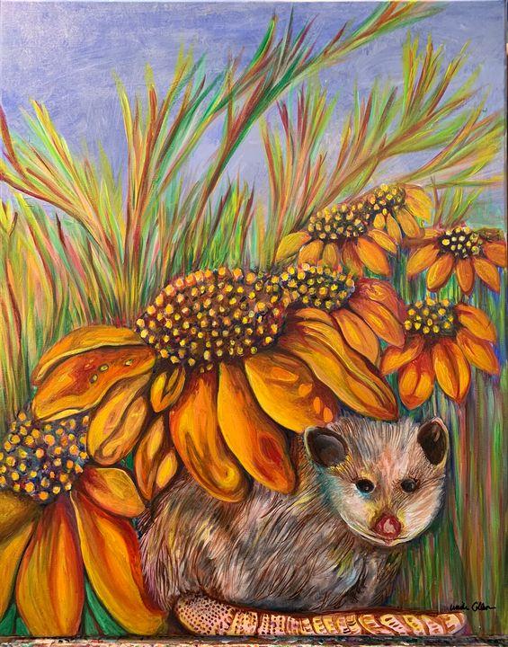 Opossum Portrait - Collura Art