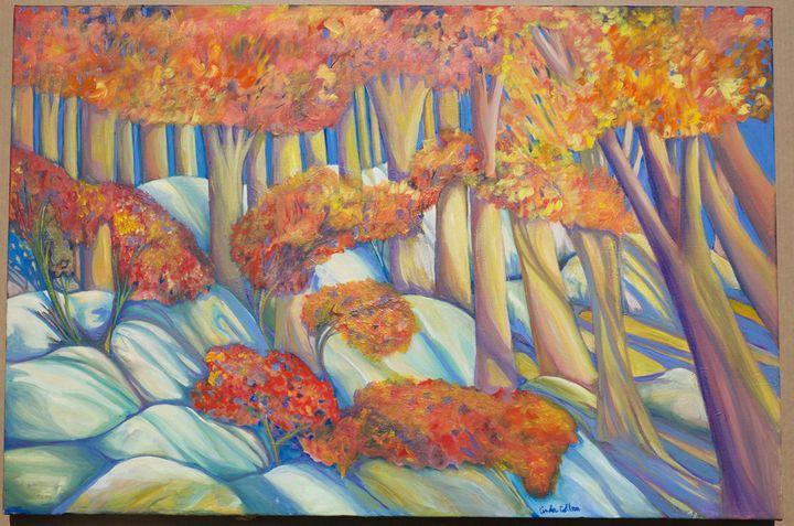 Landscape in Red - Collura Art