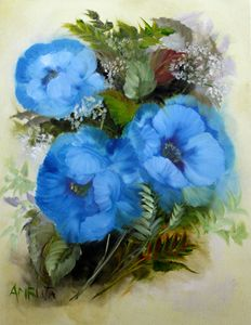 Poppy #3 Blue poppies