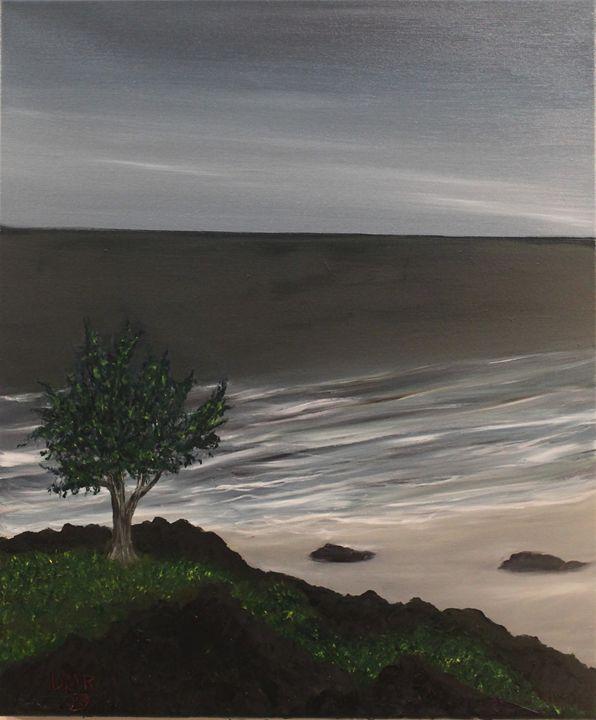 On the edge of an empty sea - Richersd Art Studios, LLC