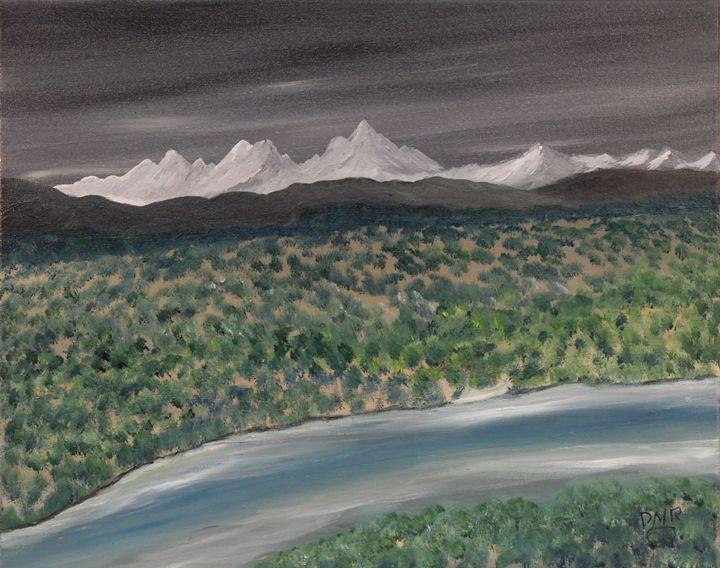 A desert ephemeral stream - Richersd Art Studios, LLC