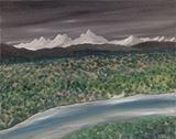 original desert oil painting