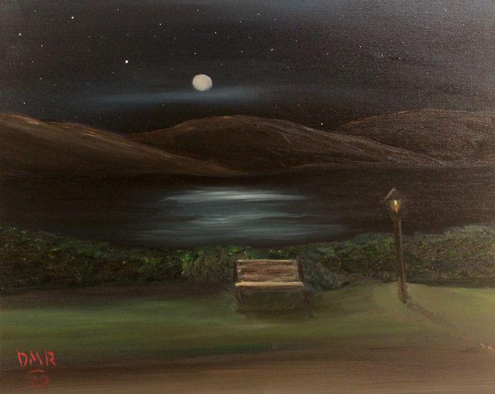 Along a lakeside path - Richersd Art Studios, LLC