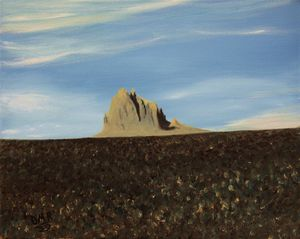 Morning at Shiprock